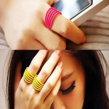 1pcsAmerican Star Hot Candy Color Fluorescent Color Ring Spiral Spring Fine Joint Ring Wholesale