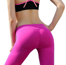 2016 New Women Sport Pants Yoga Middle Waist Sexy Hip Push Up Leggings Patanlones deportivas fitness Compression Leggings