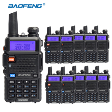 10 pcs/lot BAOFENG UV-5R Walkie Talkie For Hunting UHF VHF Dual Band CB Ham Radio Comunicador pofung uv 5r Amateur Radio Station