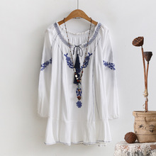 2017 Spring New Cotton and Linen Original National Wind Embroidery Women's Shirt Body Wholesale Casual Loose Jacket Women