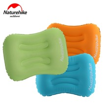 Naturehike Inflatable Outdoor Camping Pillow Ultralight Travel Pillow with Pocket Sleeping Mat Soft Neck Protector Gear