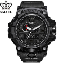 SMAEL Men's Watches New Style Brand Men LED Digital Quartz Watch Waterproof All Black Military Sport Man Clock Relogio Masculino