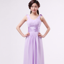 lavender long chiffon plus size bridesmaid sweetheart bridal party dresses simple elegant bridesmaids dress for wedding S2434