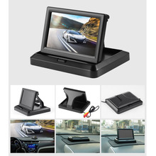 5 Inch 12V Foldable HD Car Rear View Monitor Reserving Digital LCD TFT Color Display Screen Vehicle Rearview 2 Video Input(China)