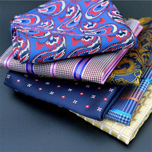 New Fashion Men's Silk Handkerchief Floral Flower Pocket Square Plaids Checks Hanky Party Chest Towel Hankies Gifts