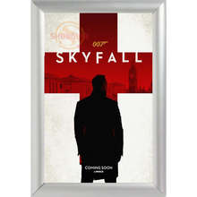 Silver Color Aluminum Alloy Poster Frame Home Decor Custom James Bond 007 Canvas Poster Frame Custom Canvas Frame F170112#9(China)