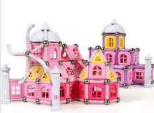 High quality new castle design 354PCS Child Early magnetic car sticks Education block figure Amazing Magnetic set