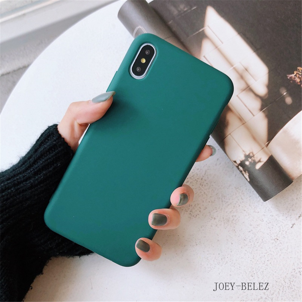 Matte Phone Cases For iPhone 7 Candy Case For iPhone X 7 6 6S 8 Plus 6 6S Case Cover XR XS MXA Coque Silicon Fundas Capa Carcasa20