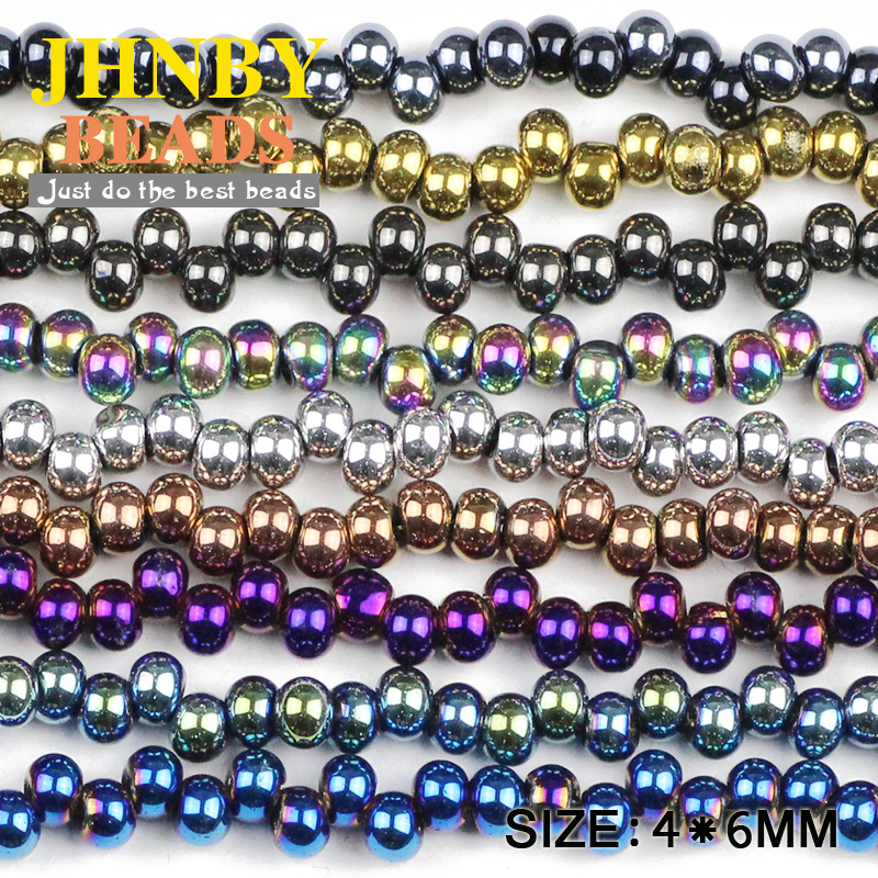 100pcs New Jewelry Accessories Sapphire Crystal Gemstone Beads 4x6mm