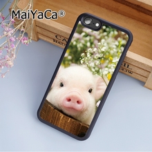 MaiYaCa Custom Cute Pig Baby Soft Rubber cell phone Case Cover For iPhone 6 6S phone cover shell(China)