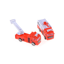1pc 1:144 Sliding Alloy Car Truck Model Diecast Children Toys Fire Engine Children's Educational Christmas Toys