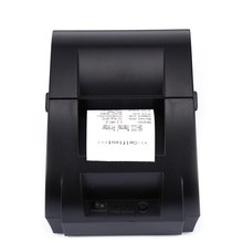New ZJ5890K Mini 58mm USB Port Black and White Printer POS Receipt Thermal Printer Built in Power Light with USB Port EU Plug