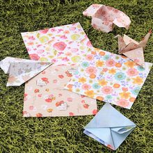 60Pcs Beauty Floral Square Origami Folding Japanese Lucky Wish Paper 6 Colors 15*15cm Crane Chiyogami(China)