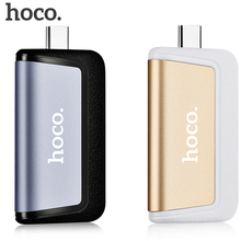 HOCO HB4 Portable Mini Type-C Multifuntional Converter Type-C to USB Secure Digital/HC Card T-flash for Mobile Phones Computer(China)