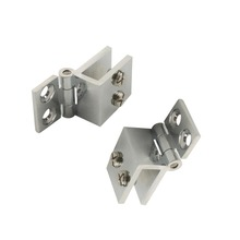 4pcs Adjustable 0 Degree Fit for 6-8mm Glass Door Clip Clamp Hinges