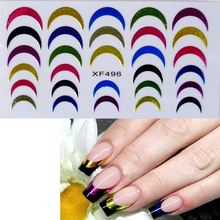 Stickers Nail Art Tips French Decorations Nail Decals Nail Patch Manicure New Designs Colorful DIY(China)
