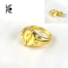 Factory direct sale Superhero The Flash Ring Can Open Cover Lightning Logo Gold Rings Size 7~12 For Men And Women Movie Jewelry