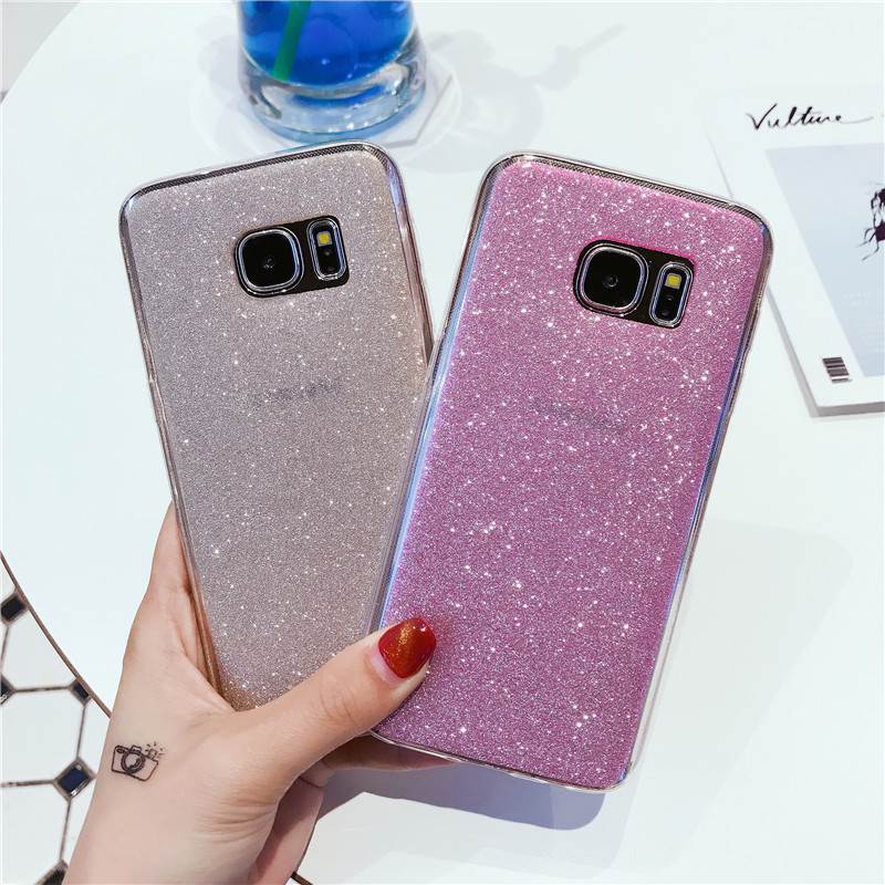 Case For Samsung Galaxy S4 S6 S7 edge plus S6edge S7edge S 4 6 7 Duos Ultrathin Cell Phone Cover Luxury Glitter Soft TPU Casing(China (Mainland))