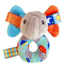 Kawaii Soft Stuffed  Elephant  Musical Baby Toy With Ring Bell Inside  Newborns Toddler Hand Play Activity Train Toy Lovely Gift