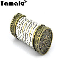 [Yamala] Leonardo da Vinci Educational toys Metal Cryptex locks gift ideas holiday gift to marry lover escape chamber props