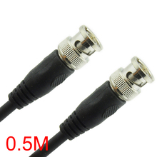 0.5M/1.6FT BNC Male to BNC Male Connector RG59 Coaxial Cable For CCTV Camera