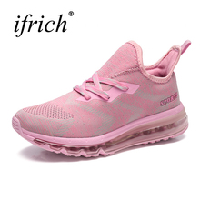 2017 New Women's Running Shoes Air Cushion Sport Shoes Pink Breathable Walking Jogging Sneakers Brand Girls Athletic Shoes Air(China)