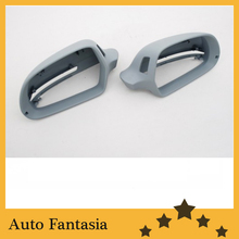 Side assist rear view mirror cap for Audi a6 c6 facelifted(China)