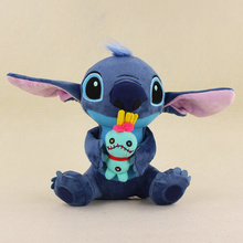 23cm Kawaii Stitch Plush Doll Toys Big Lilo and Stitch Plush Toy Scrump Monchhichi Soft Stuffed Toys Doll for kids gifts