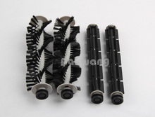 Original 2 pcs of A320 & A325 Rubber Brush and Hair Brush, Robot vacuum cleaner Spare parts