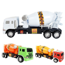 Boys Alloy Engineering Car 6 Wheel Cement Mixer Scania Truck Rotating Toy Car Scale Models Kids Toys