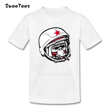 Cosmonaut Boys Girls T Shirt Cotton Short Sleeve Round Neck Tshirt children's Teeshirt 2017 Best Selling T-shirt For Baby
