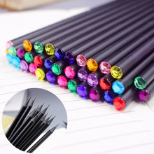 Buy 12Pcs/Set DIY Pencil Hb Diamond Color Pencil Stationery Items Drawing Supplies Cute Pencils School Basswood Office School for $2.48 in AliExpress store