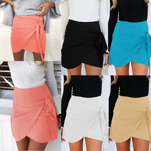 Buy BBYES Women Summer Bandage tutu Skirt Ladies Sexy Casual Bow Short Skirt Women Beach Party Skinny Short Mini Skirt Clubwear for $7.15 in AliExpress store