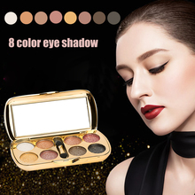 Cheap sale New 8 Color Glitte Pigment Glitter Eyeshadow Palette Cosmetic Makeup Set Nude Eye Shadow palettes(China)