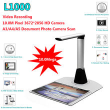 Free shipping!L1000 HD A3 A4 A5 10Mega 3672*2856 Document Book Photo ID Scanner Camera USB A3 Document Scanner Camscanner(China)