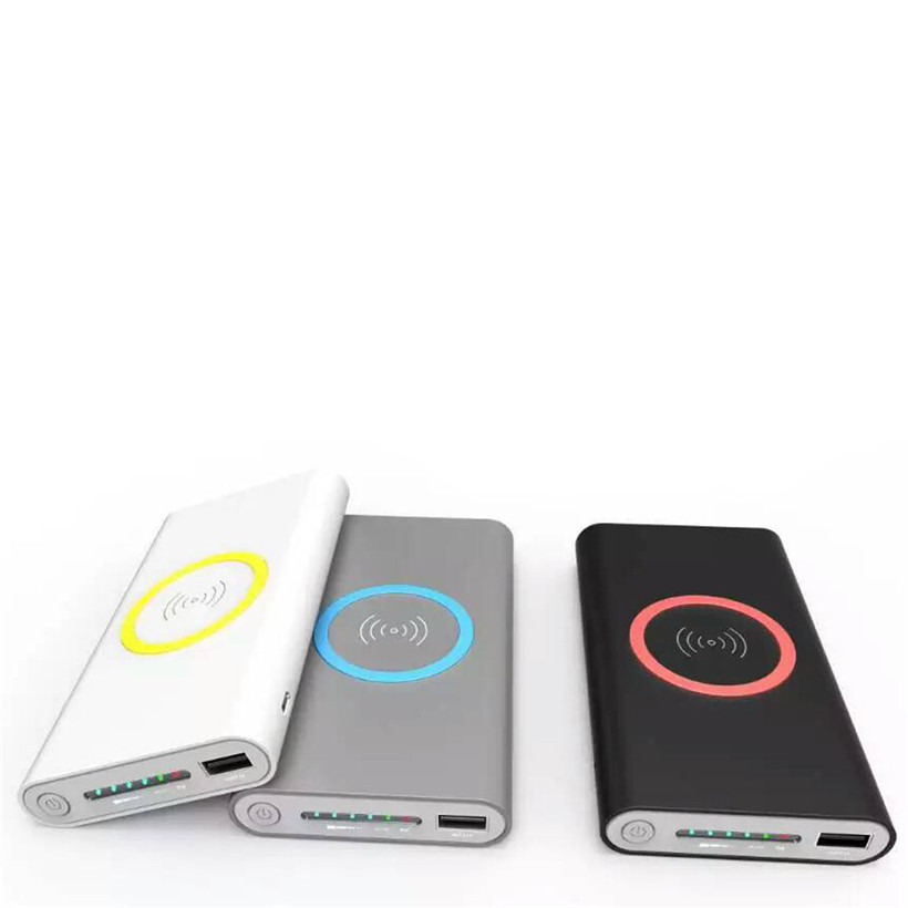 Portable External USB Power Bank 8000mAh & Wireless Charger 2 in 1 For Iphone X CEFCCRoHS Certificated drop shipping 1115