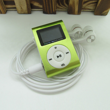 LCD Screen Metal Mini Clip MP3 Player Sports with Micro TF SD Slot with Earphone and
