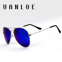 UANLOE 2017 New Aviation Sunglasses Fashion Trends Glasses Classic Reappear Pilot Style Eyewear Vintage Sunglasses Special Offer