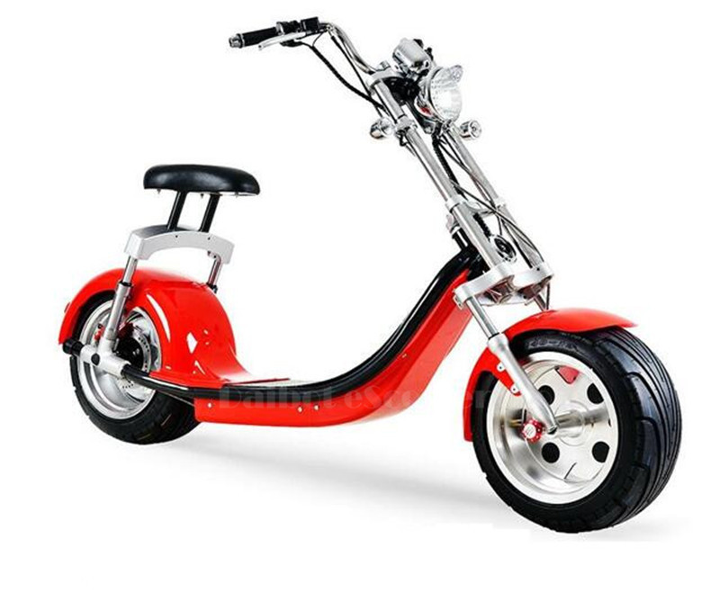 Electric Scooter Citycoco Two Wheels Electric Scooters Big Wheels 60V 1000W Harley Electric Scooter With Seat (1)