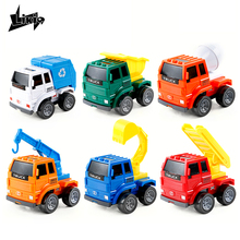 Mini Cartoon Model Toy Car City building construction series Digger Crane Loader Dump Truck for Children Boys Girls Kids Gift(China)