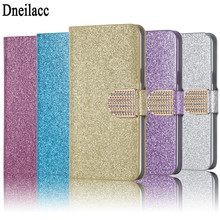 Dneilacc Hot Diamond Flash Capa Cover For Wiko Sunny Max Case Flip PU Leather Book Protector For Wiko Sunny Max Coque Fundas(China)