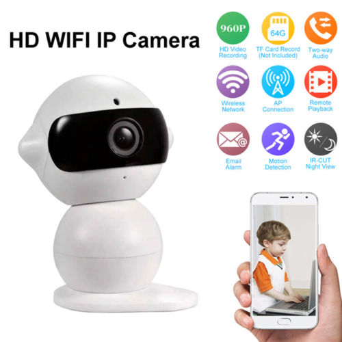 INQMEGA 2017 New 720P HD Wireless IP Camera P2P Night Vision Mini Robot Baby Monitor WiFi Camera Indoor Home Security Camera<br>