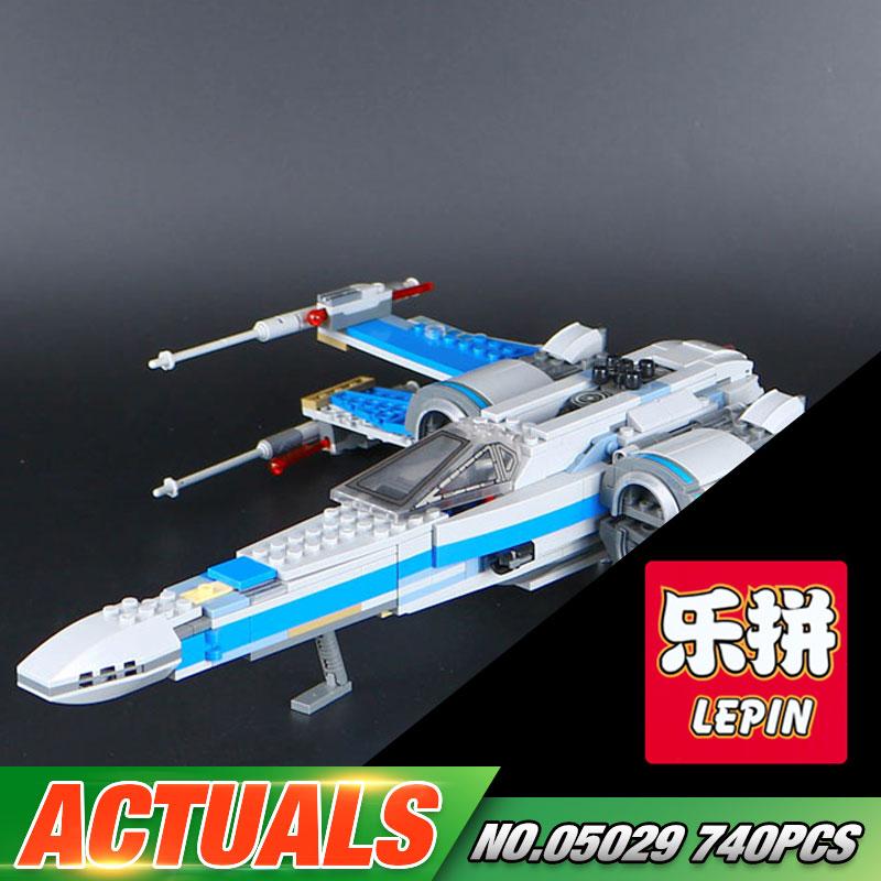 740PCS NEW LEPIN 05029 Star Series War The X Toys Wing Set fighter Set Building Blocks Bricks assembled 75149 <br>