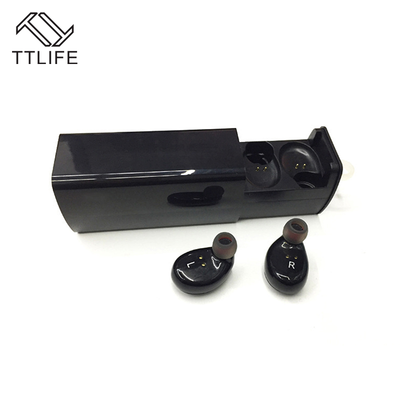 TTLIFE Bluetooth 4.1 Stereo Earphone True Wireless TWS Sports headphones Hands Free with mic Earbuds with Charge Box for Phones<br>