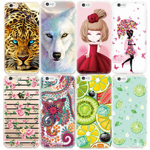 Pattern Case For iPhone 5 5S 4 4S 6 6S 7 Plus Ultra Thin TPU Animal Flower Girls Printed Phone Cases Silicone Rubber Cover Coque