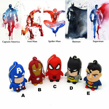 super hero captain American spider man batman Pen drive personalized usb flash drive disk memory stick pendrive 4 8 16 32 gb