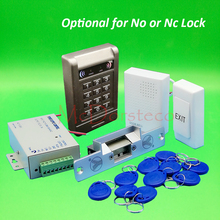 Buy DIY Complete 125khz Rfid Keypad Door Access control system NC Electric Strike Lock +Power supply+exit button+keyfobs for $35.90 in AliExpress store
