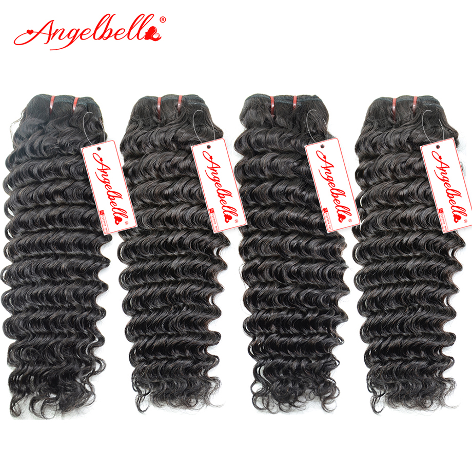 Peruvian Deep Wave Hair 4 Pieces Permanent Weave Extensions Natural Black #1B Peruvian Weave Bundles for Women New Year Gifts<br><br>Aliexpress