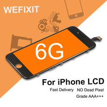 WEFIXIT 2PCS For shenchao alibaba china Grade AAA quality For iphone 6 LCD Screen Dispaly Touch Replacement Cold Press Frame(China)