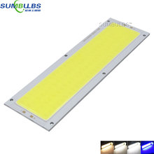SUMBULBS 10W LED COB Strip Light Bulb Lamp 1000LM DC 12V Warm Natural Cold White Blue 120x36mm LED Chip Light Source for DIY
